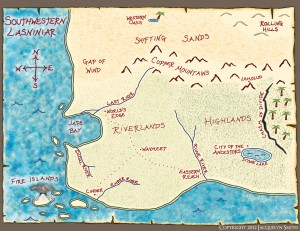 Southwestern Lasniniar map