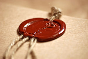 [Wax seal by Irina Naumets]